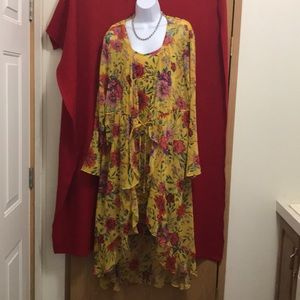 Summer Tank dress with wrap NWOT
